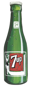 7-UP BOTTLE - WOOD CUT-OUT by Heidi Wolfe