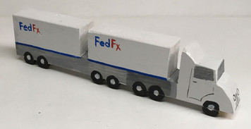 FED-EX DOUBLE BOTTON SEMI by Eddie Armstrong