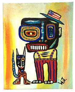 MAN & DOG - RAW ART BRUT #8 - by Willard J