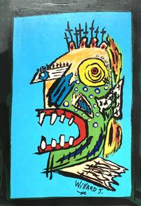 COLORFUL RAW ART BRUT #12 - by Willard J