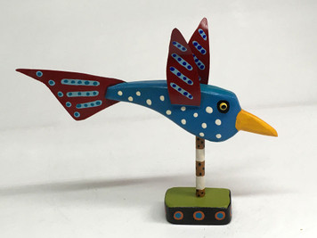 BLUEBIRD WHIMSEY - Wood & Metal - By Willard J