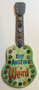 KEEP AUSTIN WEIRD - GUITAR Wall Hanger