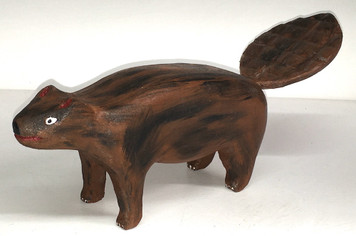 BEAUTIFUL CARVED BEAVER by Jim Lewis