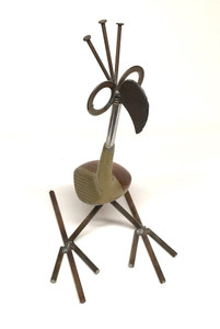 CLEVER GOLF BIRD made from a Wilson Golf Club head