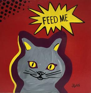 FEED ME CAT - POP ART by Alan