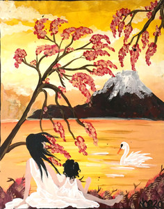 Mother - Daughter - Swan - by Nina O'Reilly - WAS $150.ºº
