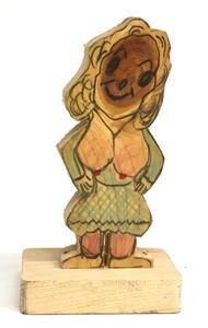 FEMALE KNOTHEAD WOOD CUTOUT #3 -  BY GEO G BORUM