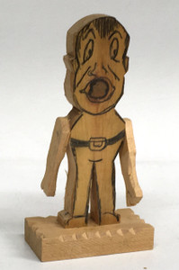 KNOTHEAD WOOD CUTOUT - MOVABLE ARMS #20 - by Geo G Borum