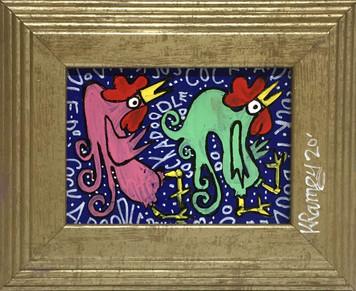 TWO PARTY BIRDS - Framed - by Kip Ramey