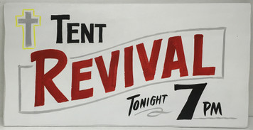 OLD TIME REVIVAL TONIGHT SIGN