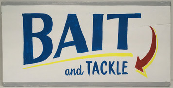 BAIT & TACKLE - RETRO STYLE SIGN