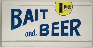BAIT & BEER - RETRO STYLE SIGN