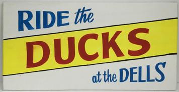 RIDE THE DUCKS - WISCONSIN DELLS SIGN