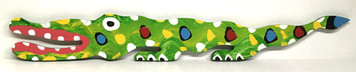 COLORFUL GATOR CUT-OUT #5  by BEBO