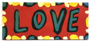 """RED """"LOVE"""" SIGN - by BEBO"""