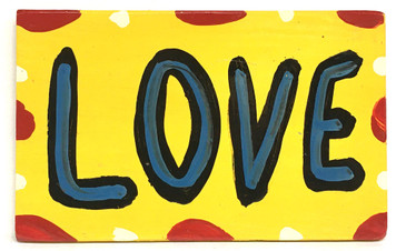 """BRIGHT YELLOW """"LOVE"""" SIGN by BEBO"""