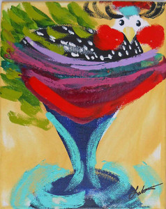 Spotted Baby Guinea in a Martini Glass by Madison Latimer