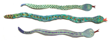 """GROUP OF 3 SNAKES - Signed: """"Travelin JB-2005"""""""