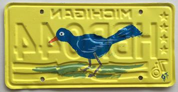 BLUEBIRD Lecense Plate by John Taylor