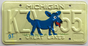 BLUE DOG License Plate by John Taylor