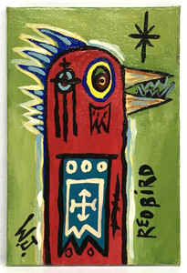 RED BIRD - RAW ART BRUT by Willard J