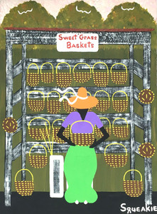 SWEET GRASS BASKET LADY - by Squeakie