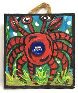 CRAB - BUD LIGHT Bottle Cap - by LeAnne Smith