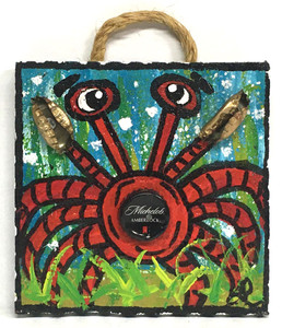 CRAB - MICHELOB BOTTLE CAP - by LeAnne Smith