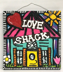 LOVE SHACK - BIG RED HEART by LeAnne Smith