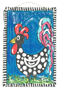 POLKA DOT ROOSTER by LeAnne Smith