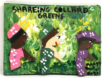 SHARING COLLARD GREENS -C- By Mary Proctor