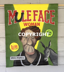 MULE FACE WOMAN - CARNIVAL-CIRCUS POSTER - WOLFE & BORUM