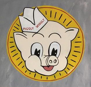 "PIGGLY-WIGGLY LOGO - 12"" x 12"" by Heidi Wolfe"