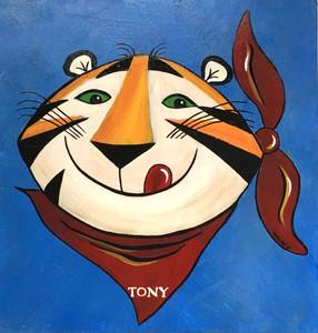 "TONY the TIGER - 12"" x 12"" LOGO  -- by Heidi Wolfe"