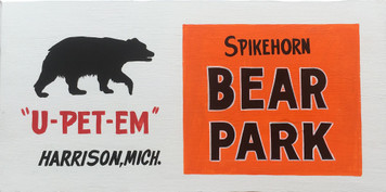 SPIKEHORN BEAR PARK - HARRISON MICHIGAN  - Handlettered Sign