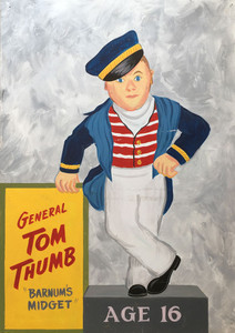 Tom Thumb - P T  Barnum's Midget - Painting by Borum