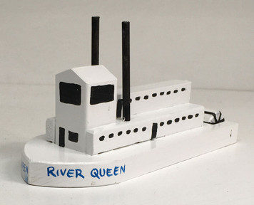 RIVER QUEEN - PADDLEWHEEL STEAM BOAT by Eddie Armstrong