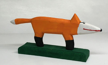 CARVED RED FOX (34) by Minnie Adkins
