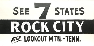 """ROCK CITY - LOOKOUT MTN Tennessee Roadsign - 12"""" x 24"""""""