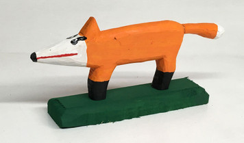 RED FOX CARVED by Minnie Adkins (G)