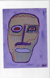 FACE on LAVENDER BACKGROUND by Billy FRED Hellams