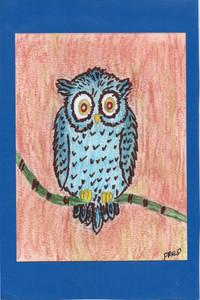 BLUE OWL - On a Limb by Billy Fred Hellams