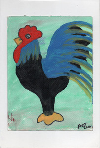 BLACK & BLUE ROOSTER by Billy Fred Hellams
