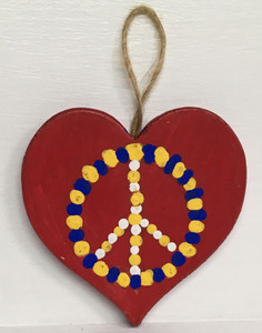 PEACE - HEART CUT-OUT by Bliiy FRED Hellam