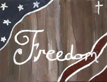 """FREEDOM PAINTING -  9"""" x 12"""" Canvas"""