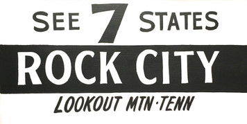 ROCK CITY - See 7 States - Chattanooga TN Sign