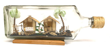 WHIMSEY - ISLAND HUTS in a WHISKEY BOTTLE -  How did they do it ???