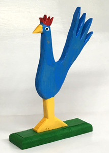 FAMOUS BLUE ROOSTER CARVING (5) by Minnie Adkins