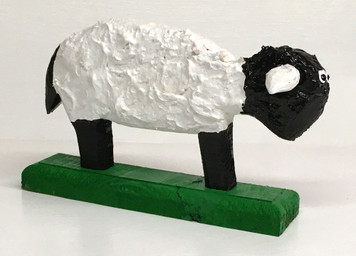 CUTE SHEEP CARVING (2) by Minnie Adkins