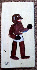Black Boxer Painting by John Taylor